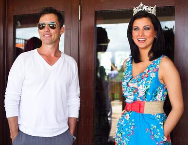 Jeffrey Donovan, Miss America 2012 Laura Kaeppeler; LILA PHOTO