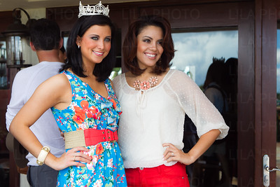 Miss America 2012 Laura Kaeppeler w/Miss Miami 2011 Nicole Vega; LILA PHOTO