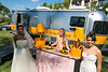Veuve Clicquot Airstream with models from La Casa Hermosa