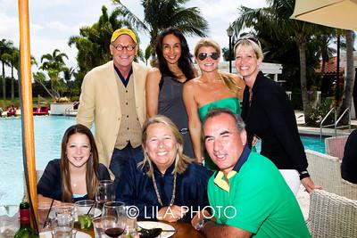Robert Kiger, Sabrina Bernett, Melissa Hornung, Countess Brigitte Desrosiers, (sitting) Francesca Coutrue, Michelle Carloi, Mauricio Devrient