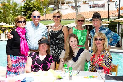 (standing) Rick Geissler, Jane Clement, Adrienne Pot, Linda Dowd, (sitting) Rusty Hart, Katie Priest,