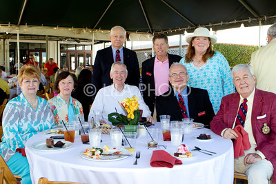 (sitting) Doreen Gynn, Carolyn Ward, Jim Ward, Dean Warren, Jim Shannon (standing) Edward Gynn, Larry Cole, Sally Cole with Society of Colonial Wars