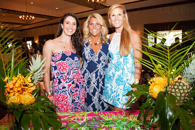 Kristen Gilliga, Caroline Wright, Marghi Walters with Lilly Pulitzer
