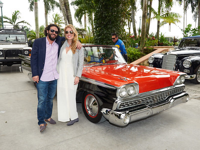 Tommy Morrison, Maura Smith with a 1959 Ford Galaxy