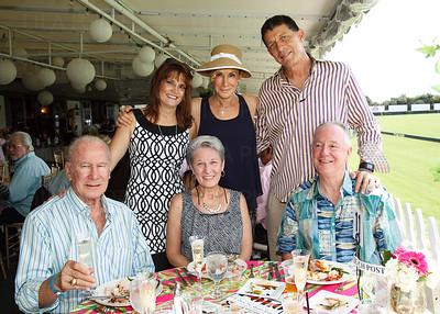 Back Row: Rose Novotny, Mary & Tim Gavin Sitting: Dick Novotny, Glenda Wright, Kerry Humphreys with The Palm Beach Post