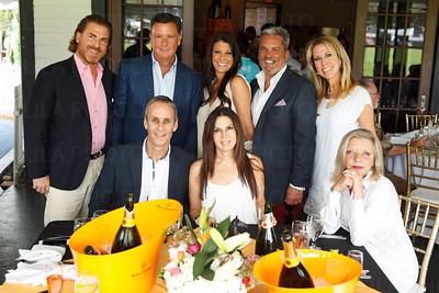 Back Row: Scott Sheron, Gene Robinson, Tammy Kaufman, Stu Kaufman, Moura Sheron Sitting: Rob Grapin, Marci Grapin, K.J. Robinson with Moet  Hennessy