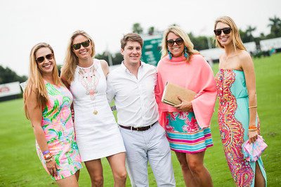 Caroline Wright, with Lilly Pulitzer staff