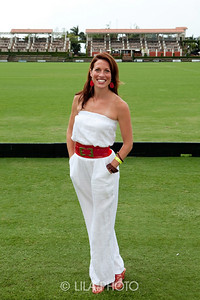 "(fashion) Meagen Springer - wearing Vintage.  ""Champagne and Polo Players, wanted to wear something Comfortable and Chic"""