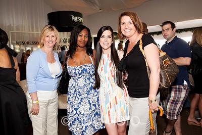 Margaret Brown, Nadia Hercules, Shannon Ramirez (wearing Armani), Kelley Brown