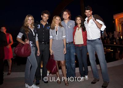 La Martina Models, Center( MIla Latamas, Jeremy Goureau)