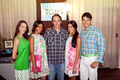 Chris Nevins with Lilly Pulitzer models