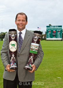 John Wash holding Custom International Polo Club Lucchese Boots
