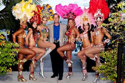 John Wash with Brazilian Dancers