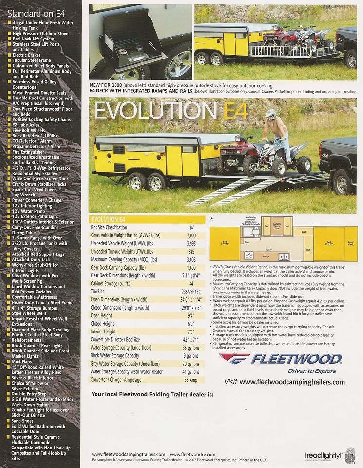 2008 Evolution E4 Page 2