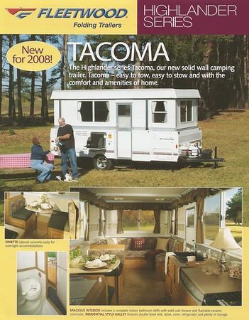 2008 Evolution E4 and Tacoma Brochures