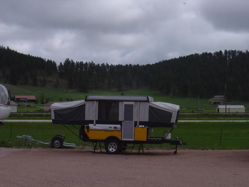 my popup camper he ruide