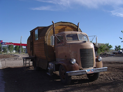 I saw this home made RV on the road between Zion and Bryce National parks.