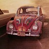 1959 volkswagen, my car Painted by my Hobbie Arts Class. This was a class project.