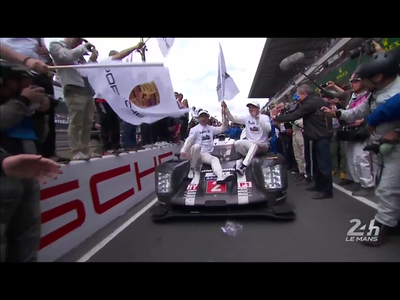 PORSCHE WIN AT LEMANS 24 Hour