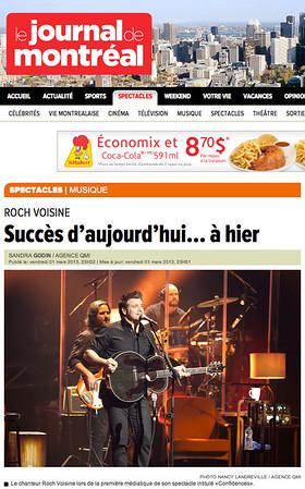 2013-03-01: Brossard, Roch Voisine -Confidences à l'Étoile Dix30 de Brossard