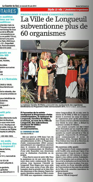 Erreur crédit photo On devrait lire PHOTO TC MEDIA-Nancy Landreville