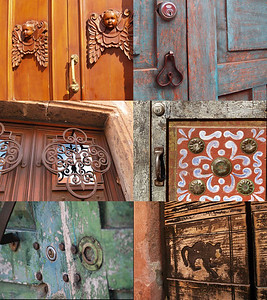 Every door and latch was unique filled with wonderful color and texture