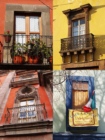 The many beautiful balconies along the streets of San Miguel