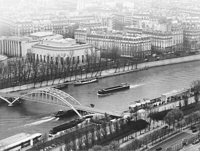 Sienne River from the Eiffel Tower, Paris, France