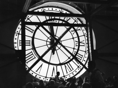 Clock in the Musee de Orsay, Paris, France