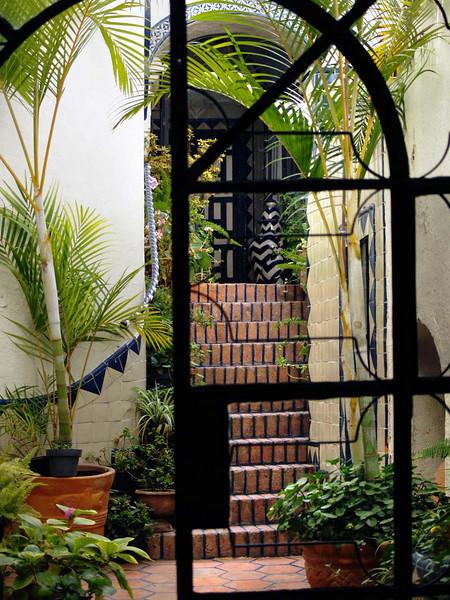 The Draper's courtyard