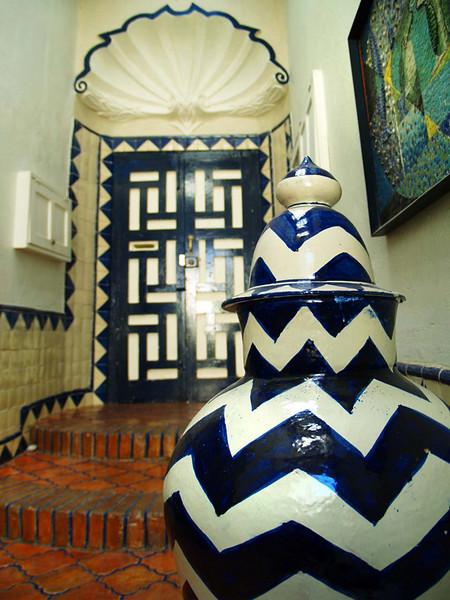 The Draper's entryway