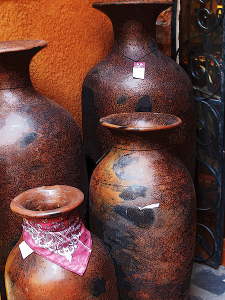pottery is beautiful and abundant in many shops