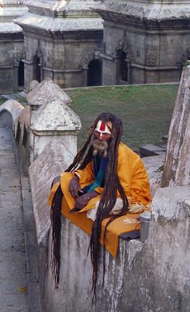 Holy man of the Brahmin Caste in Kathmandu, Nepal