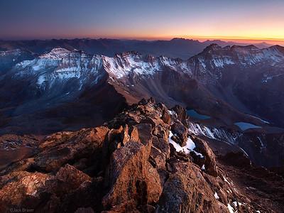 Sneffels Summit Sunset