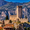 Castle guarding Malcesine town at Lake Garda, Italy.