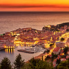 Stunning Sunset in Dubrovnik, Croatia