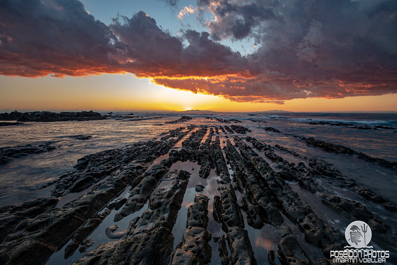 Sunset over Oshima Island from Nemoto Beach
