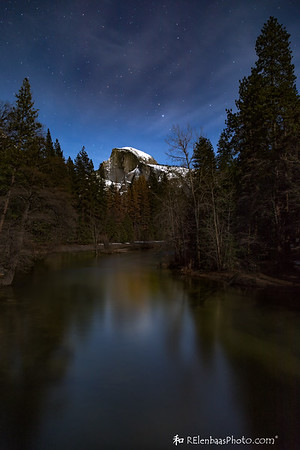 Half Dome by Moonlight
