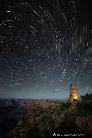 Star Trails Over Desert View