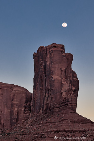 Moonrise Over Elephant Butte