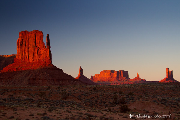 East Mitten and Sentinel Mesa