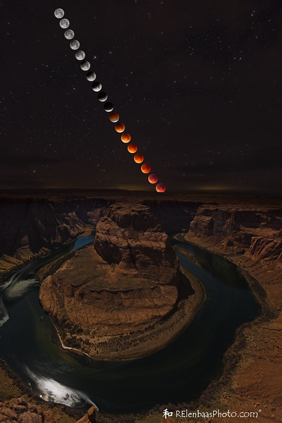 Horseshoe Bend Super Moon Eclipse