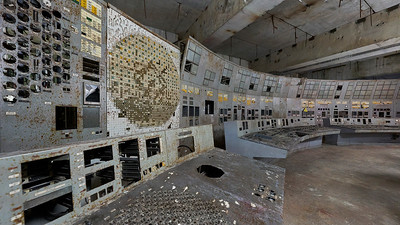 Chernobyl Nuclear Power Plant Reactor 4 Control Room