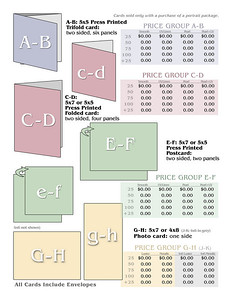 Greeting Card Price Template B