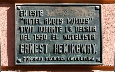Chambre d'Hemingway à l'Ambos Mundos de la Havane