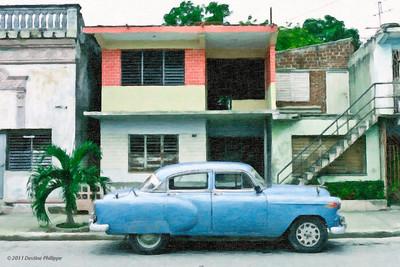 Belle américaine dans une rue de Bayamo