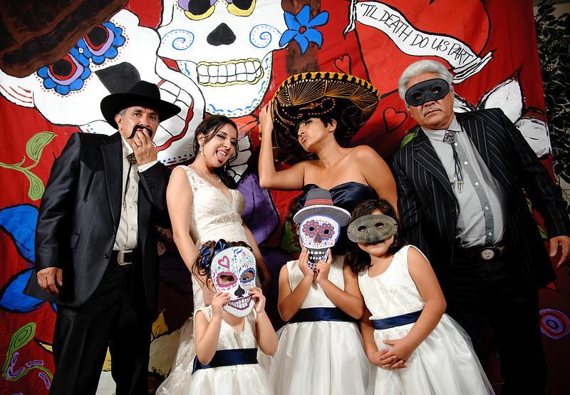 Dia de los Muertos Wedding Photo Booth<br /> Phoenix, Arizona<br /> <br /> Custom, hand painted photo booths<br /> Denver, Colorado & Destination Wedding & Reception Entertainment Photographers