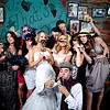 Daryl & Vicki's Rat Pack Photo Booth<br /> Rochester, England<br /> <br /> The brick wall behind added such a great touch.<br /> <br /> Custom, hand painted photo booths<br /> Denver, Colorado & Destination Weddings