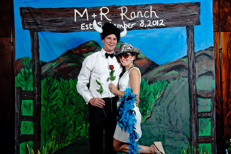 Miranda & Robert's Colorado Ranch<br /> Denver, Colorado<br /> <br /> Custom, hand painted photo booths<br /> Denver, Colorado & Destination Wedding & Reception Entertainment Photographers