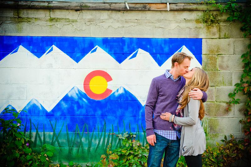 Dan & Brittney's Colorful Fall Photo Shoot <br /> Denver, Colorado